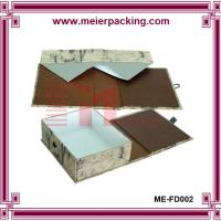 Wholesale Luxury paper custom cardboard folding box/magnetic close box with ribbon ME-FD002 from china suppliers