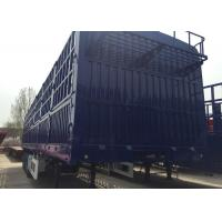 China Logistic Industry Tri Axle Semi Tipper , Cargo  Semi Low Bed Trailer for sale