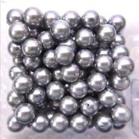 Wholesale High Quality Round Shape 14mm Gray  Half Hole Shell Pearl Loose Bead for DIY Handcraft from china suppliers