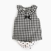 Wholesale Girl 2 Piece Newborn Clothes Set / Ruffle Cotton Baby Clothes Single Dress from china suppliers