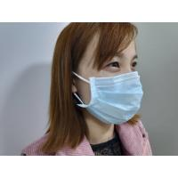 China Blue Dust Proof Adult 3 Ply Non Woven Face Mask on sale