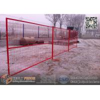 "Wholesale 8ft Temporary Construction Fencing with 1"" square tube frame and high visible RED color from china suppliers"