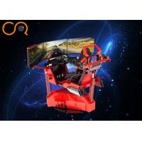 Wholesale Three Screens VR Car Racing Game Machine 0.6 Kw 220V With Cylinder System from china suppliers