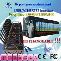 Wholesale USB 16Ports GSM/GPRS SMS modem pool (wavecom/siemens module) with calling from china suppliers