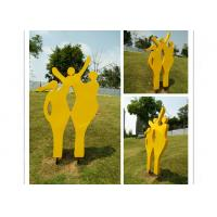 Wholesale Modern Metal Outdoor Sculptures / Large Abstract Metal Sculpture 150cm Height from china suppliers