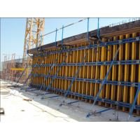 China 60KN/m2 Retaining Concrete Wall Formwork Timber Beam Wall Formwork , Waterproof 55-60kg/m2 for sale