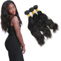 Wholesale Clean Weft Natural Wave Virgin Hair , Virgin Peruvian Remy Natural Wave Hair from china suppliers
