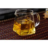 Wholesale Customizable Square heat-resistant high temperature glass Kung Fu tea set thickened fair cup tea leak tea sea square cup from china suppliers
