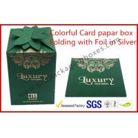 Wholesale Fashion Green Card Board Packaging Box Rectangle for supermarket from china suppliers