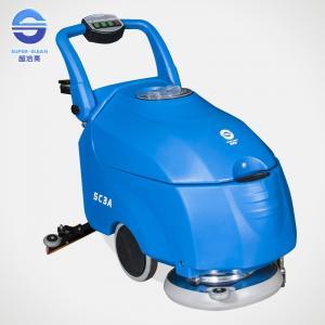 China Blue Hand Push Floor Polishing Machine Concrete Floor Scrubber on sale