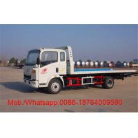 Wholesale 3800 Wheelbase HOWO Truck Mounted 4x2 6.2M Flatbed Tow Truck / Wrecker Vehicle from china suppliers