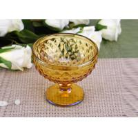Wholesale Yellow Stemware popular wedding glass candle holders Bowl Shape from china suppliers