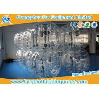 Quality TPU black / Clear Inflatable Bubble Ball with CE SGS Certification inflatable human ball for sale