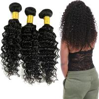 Wholesale Double Weft Raw Brazilian Virgin Remy Hair Deep Wave 3 Bundles No Tangle from china suppliers