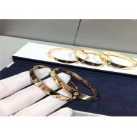 Wholesale Unisex 18K Gold Cartier Love Bracelet 4 Diamonds Oval Shape B6035917 brand jewelry stores from china suppliers