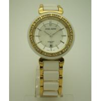 Buy cheap Fake Ceramics Quartz Womens Watches With Gold Plated Alloy Case from Wholesalers