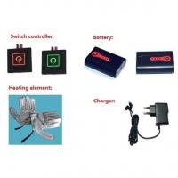 Buy cheap Electric Rechargeable Heated Gloves System: Batteries + LED Button+Charger from wholesalers