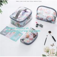 Wholesale Travel Luggage Pouch Custom Clear Transparent PVC Travel Toiletry Bag Make Up Cosmetic Bag,Vinyl Wash Beauty Cosmetic Tr from china suppliers