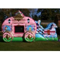 Wholesale 12' x 18' Pink Princess Carriage Castle Inflatable Combo For Girl's Birthday Party from china suppliers