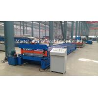 China Hydraulic CNC Floor Tile / Sheet Metal Forming Equipment Cr12Mov Chains Drive on sale
