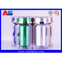 China Durable Acrylic Plastic Pill Pots 60CC Pharmacy Capsules Cylinder Bottle for sale