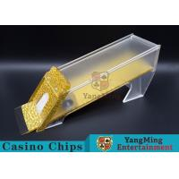 Wholesale Anti - Cheating Casino Card Shoe / 8 Deck Shoe With Customized Logo Print from china suppliers