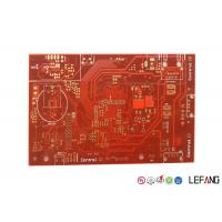 Wholesale Multilayer Industrial PCB Board 8 Layers Red Solder Immersion Gold For Industrial Control from china suppliers