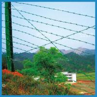 Buy cheap high quality pvc coated barbed wire fence from wholesalers