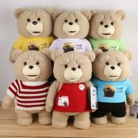 China Lovely Ted Bear Baby Plush Toys Red Brown Polyester Accept OEM ODM on sale