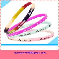 free design thin baseball silicone bracelets for sale