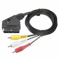 Wholesale 21 Pin SCART to 3 RCA Plug Cable from china suppliers