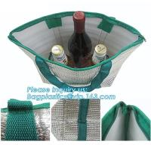 China Non-woven laminated thermal insulation cooler bag,custom logo disposable aluminium foil insulation cooler bag BAGEASE on sale