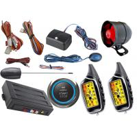 Wholesale Two Way Car Alarm System With Start Stop Engine Button , Anti Robbery Auto Security Alarm Systems from china suppliers