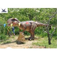 Quality Eyes Blink Dinosaur Lawn Ornament , Life Size Animal Statues For Amusement Park for sale