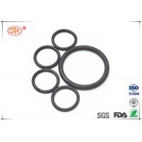 China Flat Rubber Black FPM FKM O Rings Fluorelastomer With RoHs Heat Resistance on sale