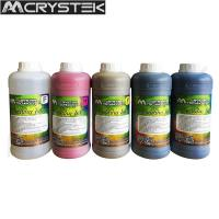 Buy cheap CrysTek eco solvent ink for Epson dx5 or dx7 printhead // CrysTek inkjet printing ink CMKY color from wholesalers