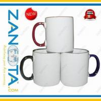 Wholesale Sublimation Mug with Color Rim and Handle from china suppliers