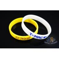 Reflective Custom Printed Silicone Wristbands , Custom Rubber Band Bracelet for sale