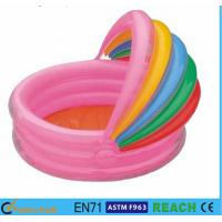 Wholesale Rainbow Canopy Inflatable Swimming Pool Durable 0.2mm Material For Infants from china suppliers