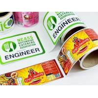 Wholesale Packaging Glossy Sticker Labels , Sheet / Roll Glossy Printable Stickers from china suppliers