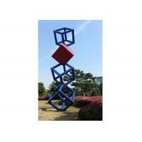 Wholesale Cube Garden Large Stainless Steel Sculpture Outdoor Metal Art Sculpture from china suppliers