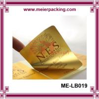 Wholesale Glossy gold / silver sticker, Custom PET Cosmetic Label/Adhesive Bright Gold PET Sticker Roll ME-LB019 from china suppliers