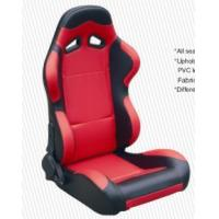 Wholesale Cars Parts Universal Black And Red Racing Seats Foldable With Safety Belts from china suppliers