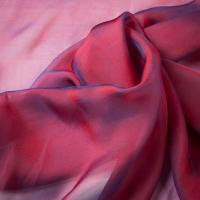 China Graceful Plain Shot Silk Chiffon in 100% Pure Silk Yarn Dyed on sale