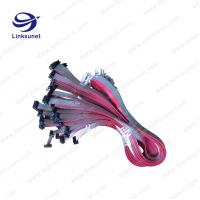 China PVC Flat Ribbon Cable Assembly 2.54mm Pich UL2651 - 28AWG 10P 1.27MM PICH on sale