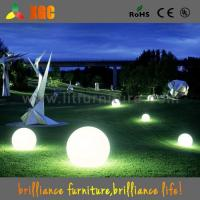 Wholesale garden decoration LED plastic light  balls outdoor events balls 16 colors for christmas  decoration from china suppliers