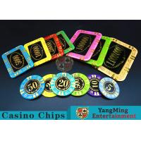 Wholesale Round Shape RFID Casino Chips / Casino Poker Chips With Good Wear Resistance from china suppliers