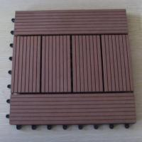 Wholesale Eco Brown WPC Deck Tiles / Patio Yard Garden Floor Decking Tiles from china suppliers