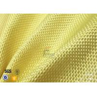 Wholesale 1500D 305gsm Yellow Kevlar Aramid Fabric For Bulletproof Vest TDS Approval from china suppliers
