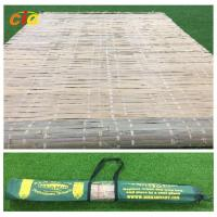 Wholesale Bamboo mat with carrying bag,tied by raffia grass,hot summer  outdoor bamboo mat from china suppliers